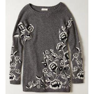 Anthro Sleeping On Snow Ranunculus Tunic Sweater